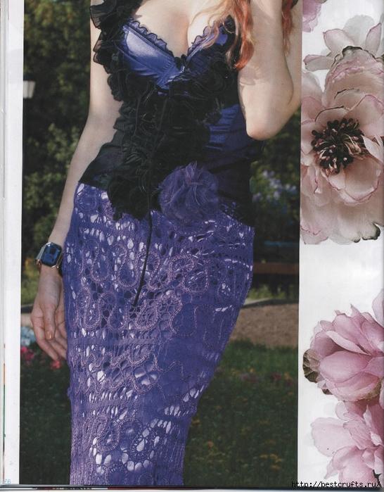 Вязание крючком. Журнал Мод 566. Отличные летние модели (76) (546x700, 313Kb)