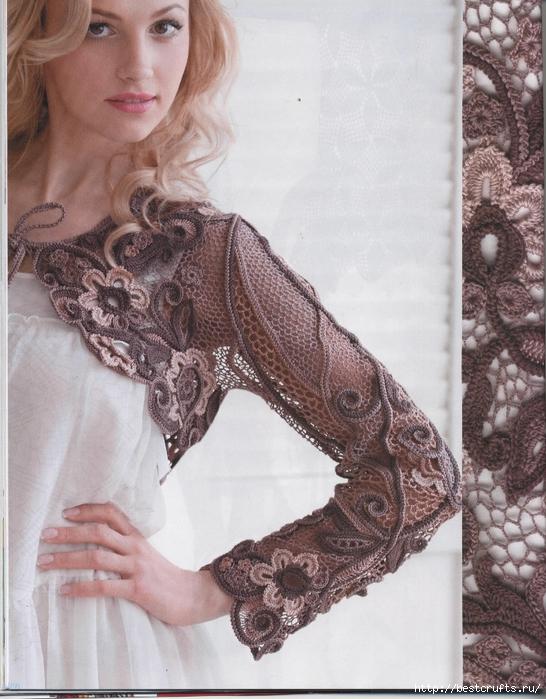 Вязание крючком. Журнал Мод 566. Отличные летние модели (86) (546x700, 309Kb)