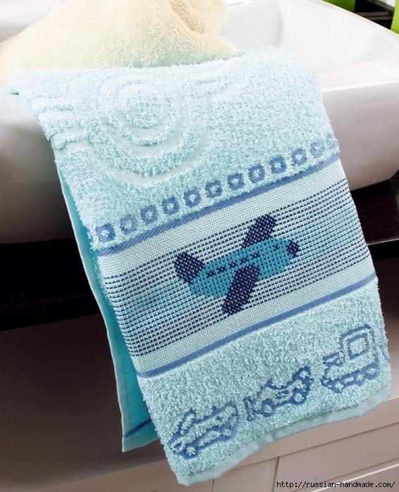 Схемы вышивки для украшения банного полотенца (3) (566x700, 322Kb)