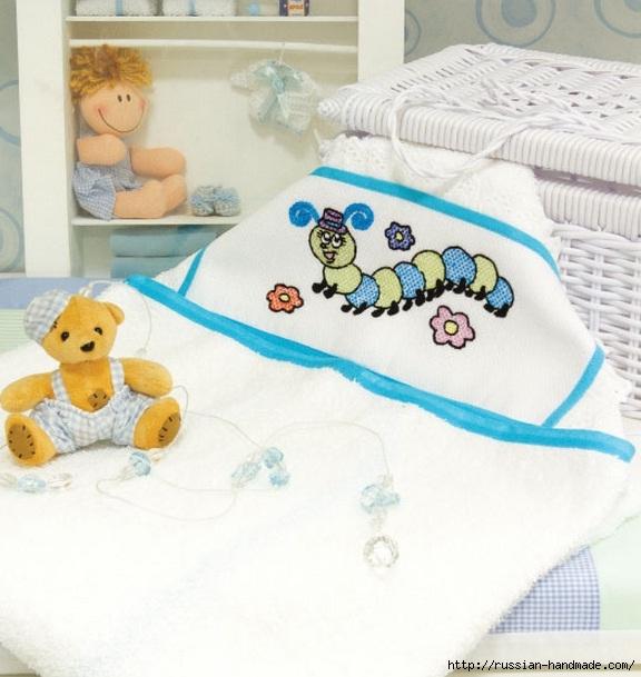 Схемы вышивки для украшения банного полотенца (5) (576x609, 183Kb)