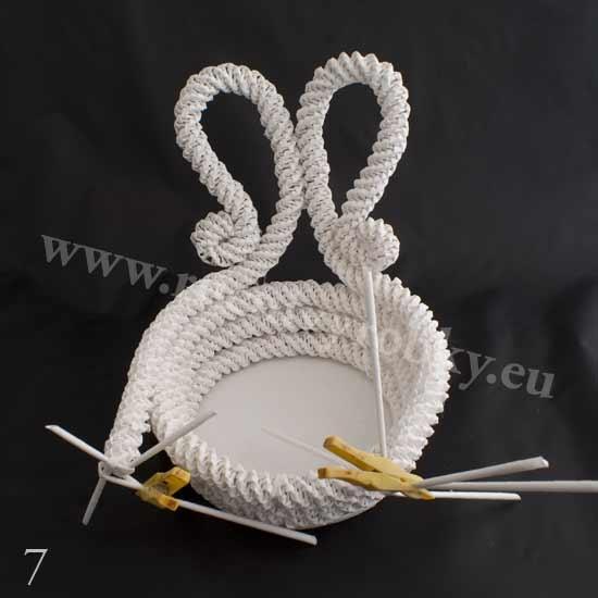 плетение из газет. белый лебедь (7) (550x550, 69Kb)
