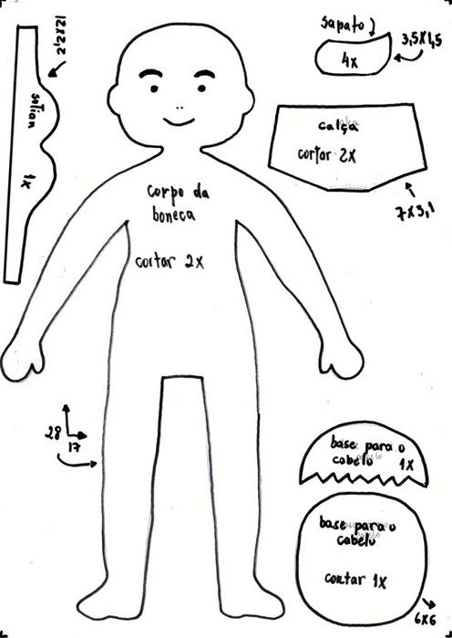 Как сшить куколку из фетра. Мастер-класс (1) (496x700, 117Kb)
