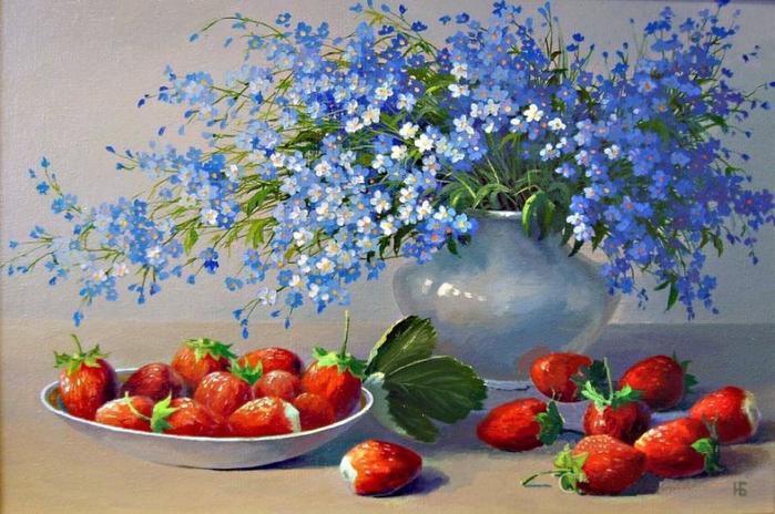 bc7de683861623b1801f09e (800x464, 419Kb)Натюрморты с синими цветами