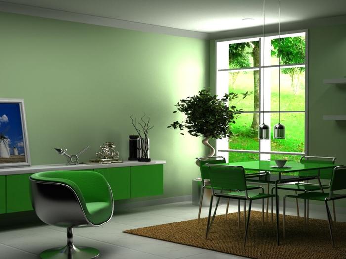 Интерьеры в зеленых тонах!