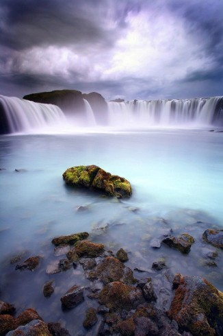 Гудафосс водопад бога Исландия (326x490, 122Kb)