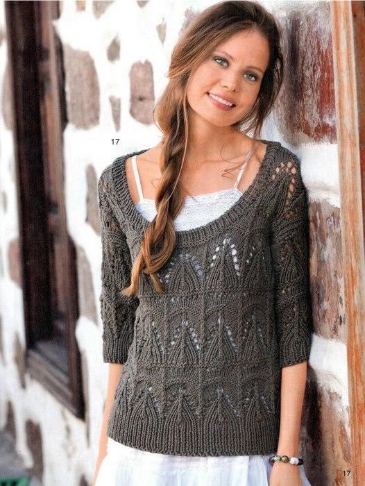 Вязание летних ажурных свитеров