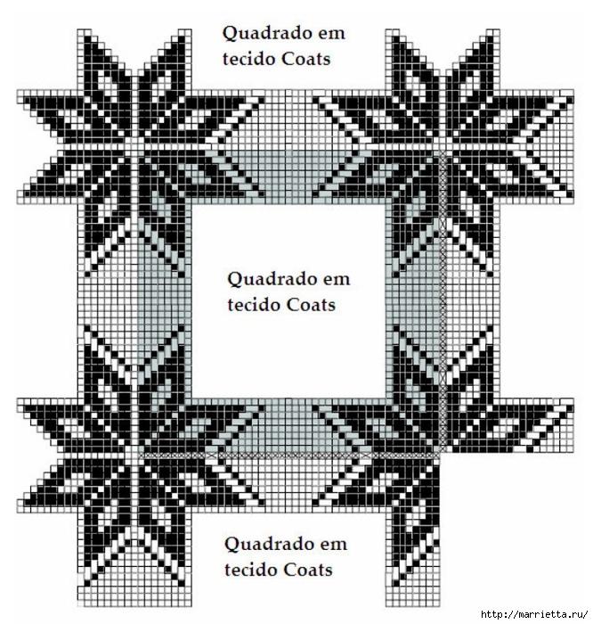 Стильное вязание крючком для дома. Схемы (39) (666x700, 317Kb)