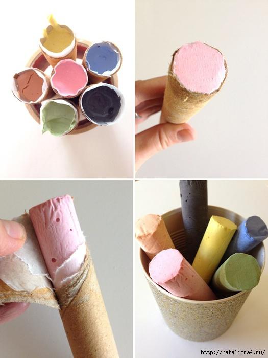 мастер-класс по изготовлению разноцветных мелков