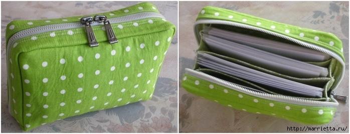 Как сшить сумочку-портмоне. Выкройка и мастер-класс (2) (700x268, 156Kb)