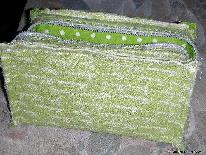 Как сшить сумочку-портмоне. Выкройка и мастер-класс (8) (690x519, 248Kb)