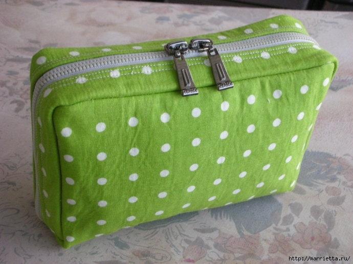 Как сшить сумочку-портмоне. Выкройка и мастер-класс (12) (690x517, 195Kb)