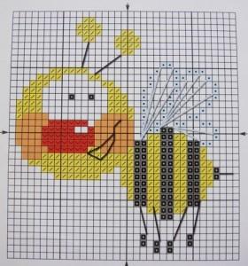 Схемы для вышивки пчел