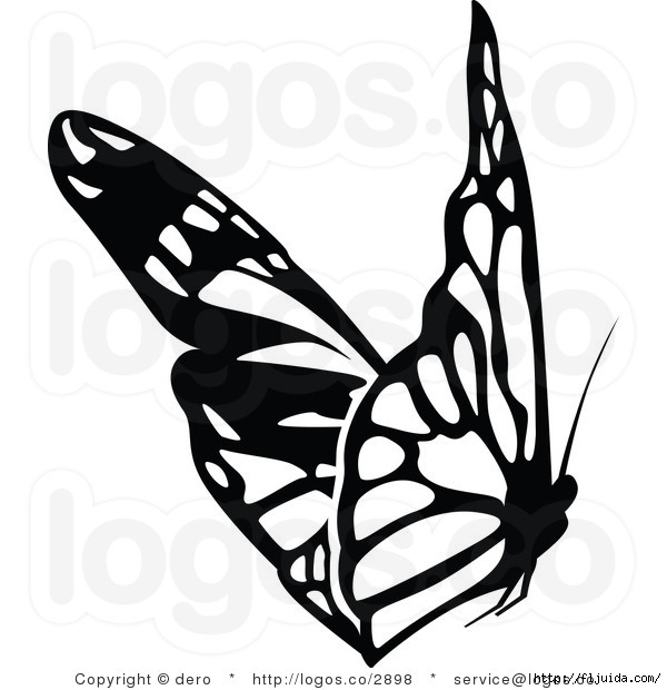 royalty-free-black-and-white-butterfly-logo-by-dero-2898 (600x620, 127Kb)