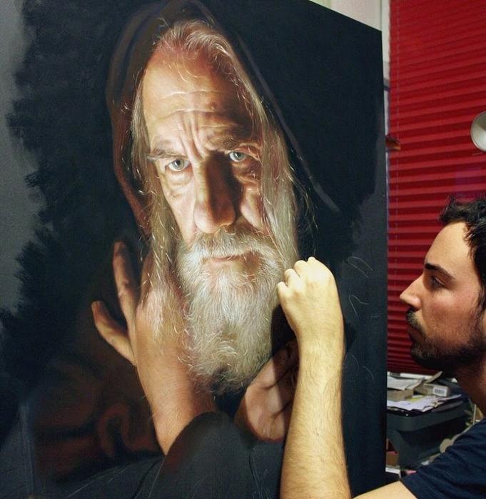 фотореалистичные портреты художника Рубена Беллосо Адорна  (681x700, 443Kb)