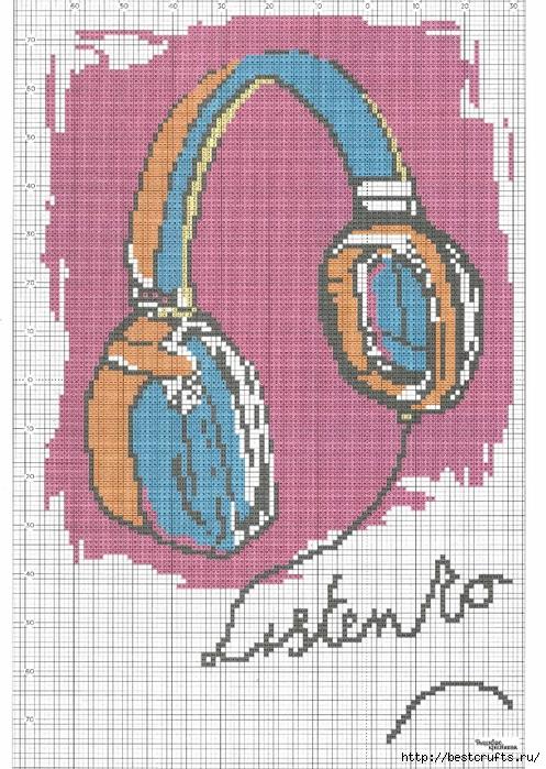 Вышиваю крестиком. Журнал со схемами (36) (497x700, 359Kb)