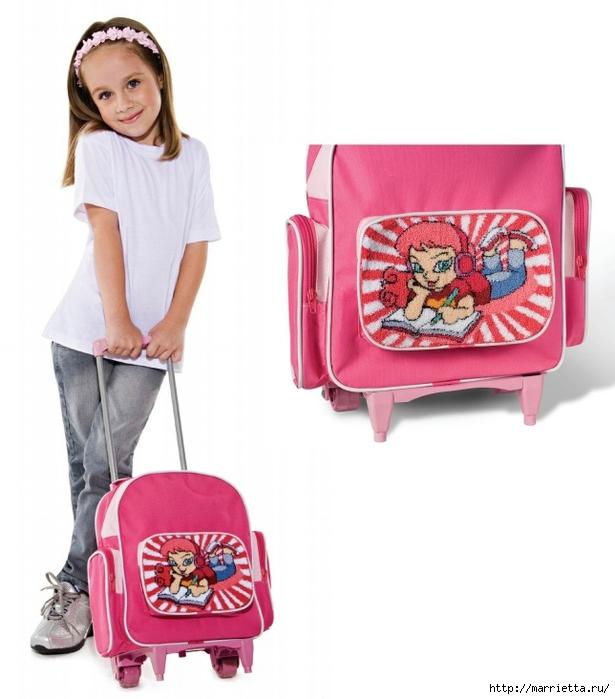 Ковровая вышивка в украшении детского школьного рюкзачка (1) (615x700, 190Kb)