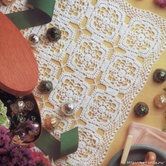 модное вязание крючком для дома. схемы (1) (536x535, 218Kb)