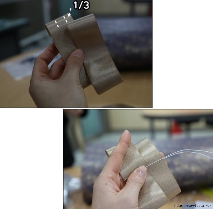 Украшаем бантиками из ленточек заколки для волос. Мастер-классы (32) (693x678, 137Kb)