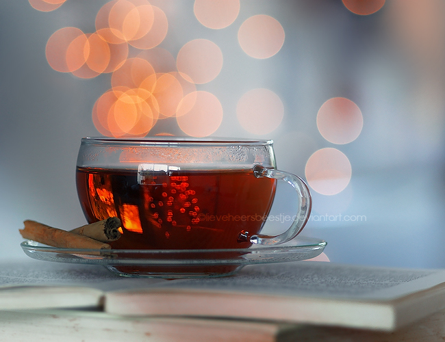 Hot tea photography