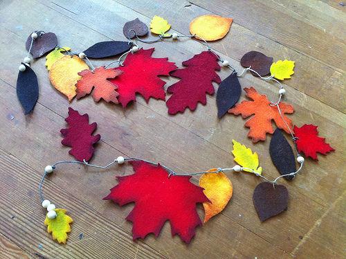 Листья осенние своими руками