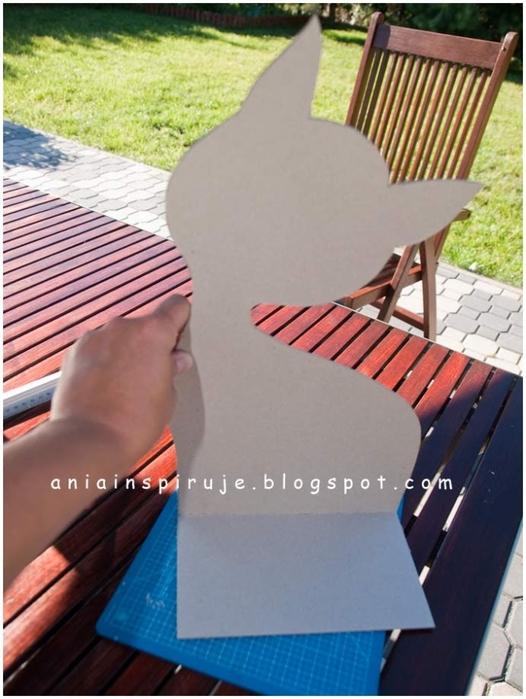 Gato de café con un jardín y valla) Composición decorativa para la cocina (10) (526x700, 240Kb)