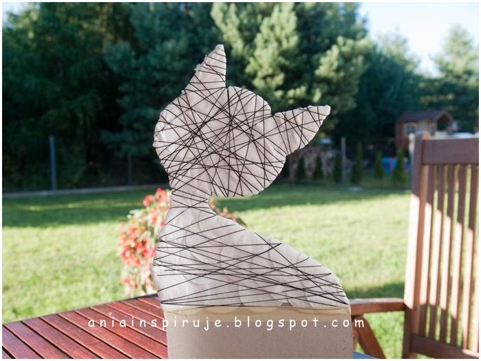 Gato de café con un jardín y valla) Composición decorativa para la cocina (14) (700x526, 250Kb)