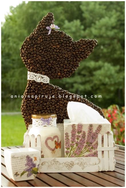 Gato de café con un jardín y valla) Composición decorativa para la cocina (31) (440x656, 226Kb)