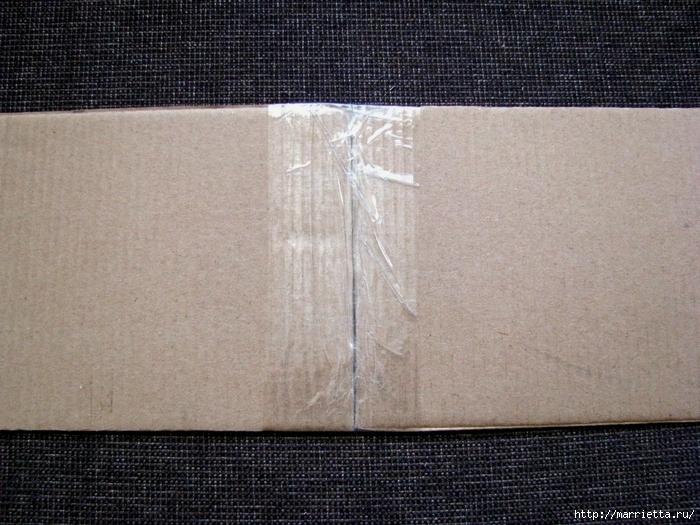 Кашпо для комнатных цветов из картонной коробки и упаковочной бумаги (5) (700x525, 340Kb)