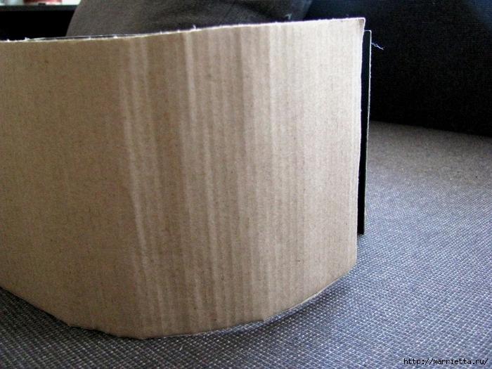 Кашпо для комнатных цветов из картонной коробки и упаковочной бумаги (7) (700x525, 312Kb)