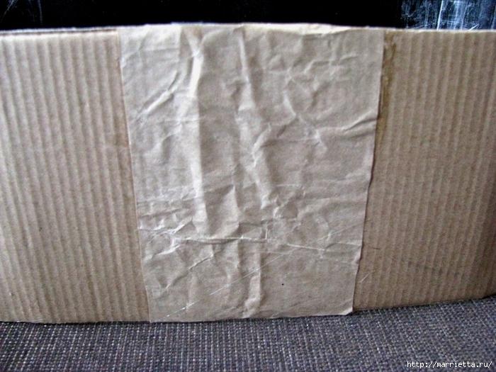 Кашпо для комнатных цветов из картонной коробки и упаковочной бумаги (10) (700x525, 305Kb)