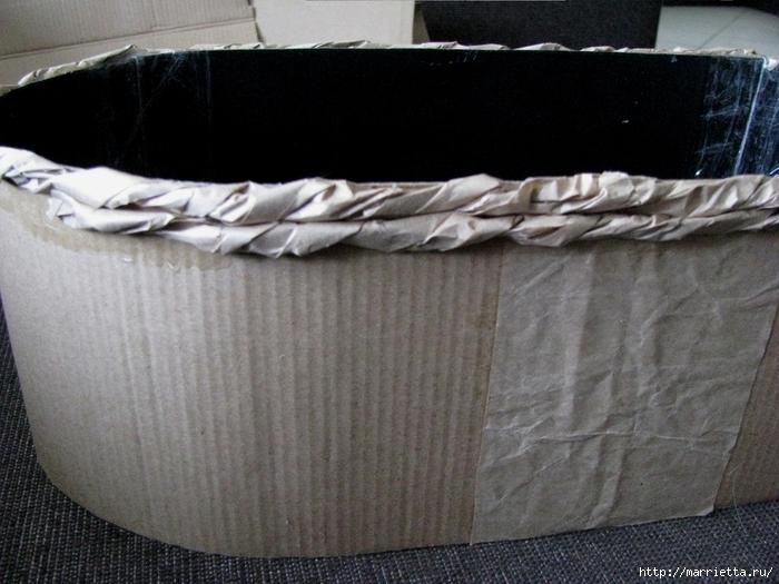Кашпо для комнатных цветов из картонной коробки и упаковочной бумаги (16) (700x525, 277Kb)