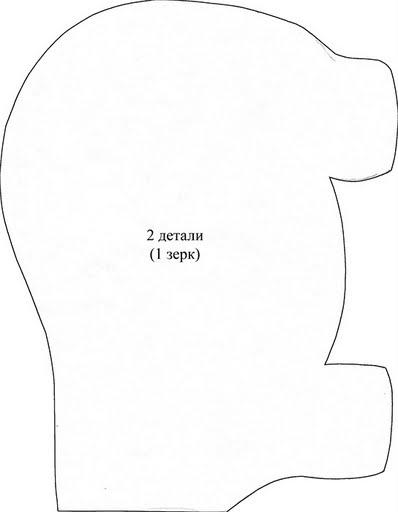 шьем игрушки. черепаха и бегемотик с выкройками (3) (398x512, 33Kb)