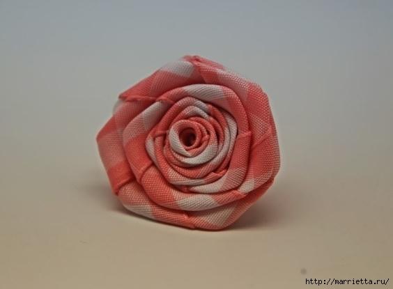 розочка из ленточки для украшения резиночки для волос (10) (564x415, 71Kb)