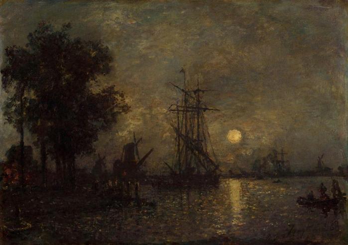 Jongkind_Johan_Berthold_Holandaise_Landscape_with_Docked_Boat (700x491, 342Kb)