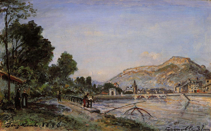 The Banks of the Isere at Grenoble in Spring (700x434, 395Kb)