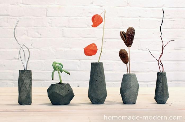 Свечи и гипсовые вазочки геометрической формы. Шаблоны и мастер-класс (11) (700x462, 180Kb)