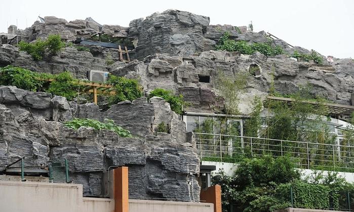 скальный дом на крыше здания в пекине 3 (700x419, 265Kb)
