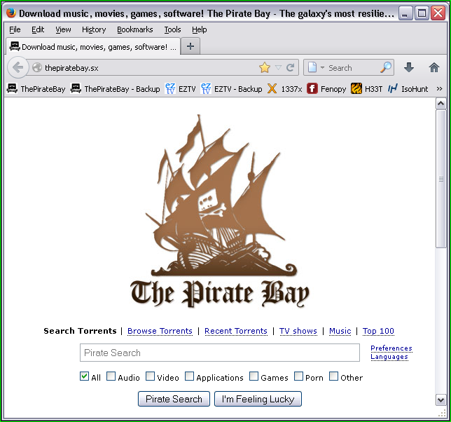 Устанавливаем Pirate Browser