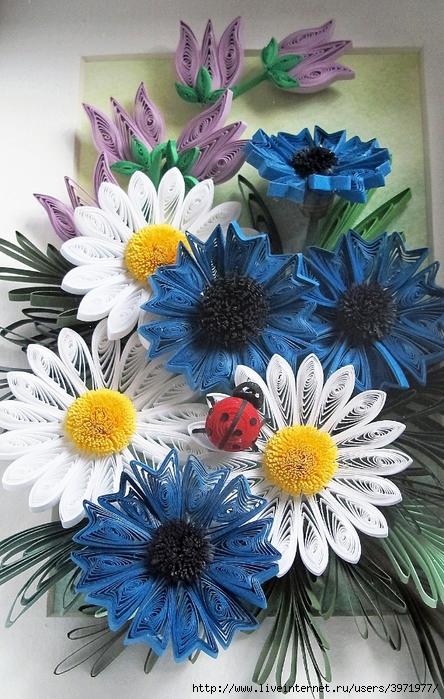 Квиллинг букеты цветов картинки 4
