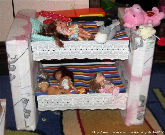 Как своими руками сделать кровать для кукол