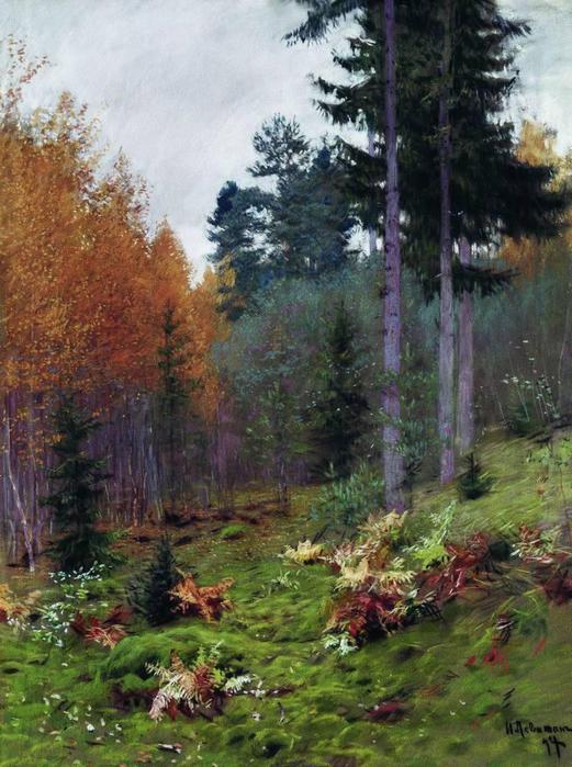 В лесу осенью. 1894 (521x700, 73Kb)