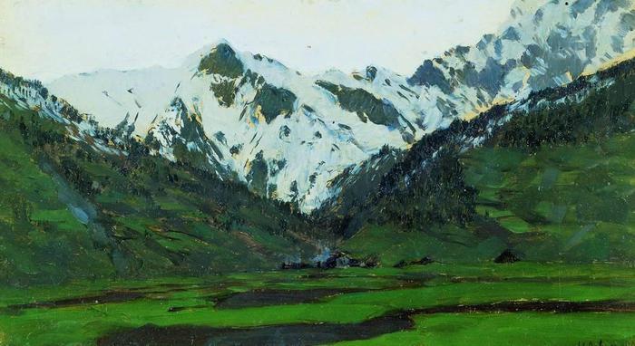 В Альпах весной. 1897 (700x382, 50Kb)
