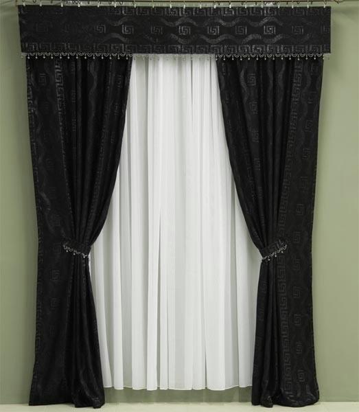 Черные шторы фото