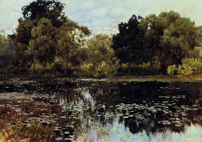 Заросший пруд. 1887 (700x491, 80Kb)