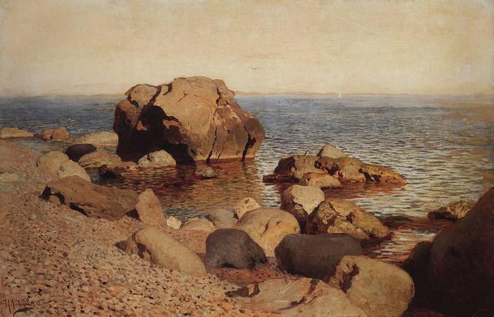 У берега моря. Крым. 1886 (700x449, 53Kb)