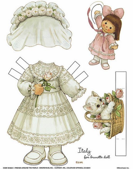 Бумажные вырезалки - одевалки для девочек (2) (551x700, 552Kb)