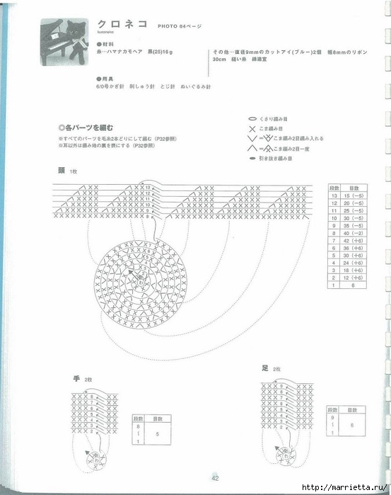 Игрушки АМИГУРАМИ крючком. Японский журнал со схемами (43) (553x700, 142Kb)