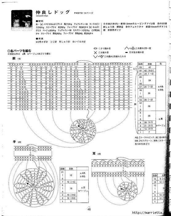 Игрушки АМИГУРАМИ крючком. Японский журнал со схемами (49) (555x700, 264Kb)