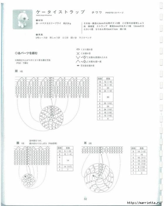 Игрушки АМИГУРАМИ крючком. Японский журнал со схемами (63) (559x700, 155Kb)