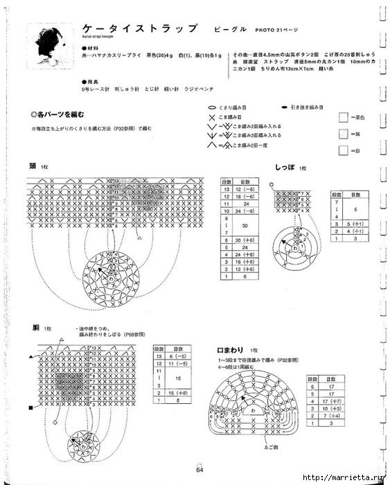 Игрушки АМИГУРАМИ крючком. Японский журнал со схемами (65) (563x700, 199Kb)
